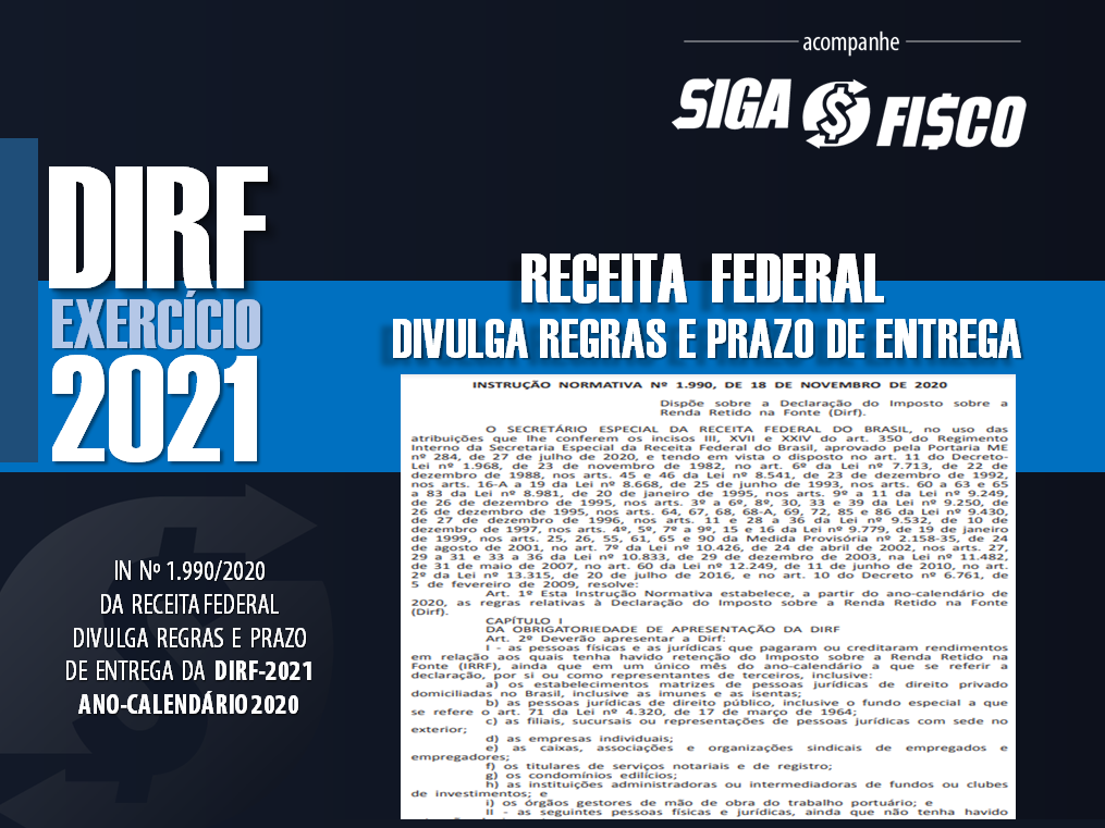 DIRF 2021 – IN 1.990/2020