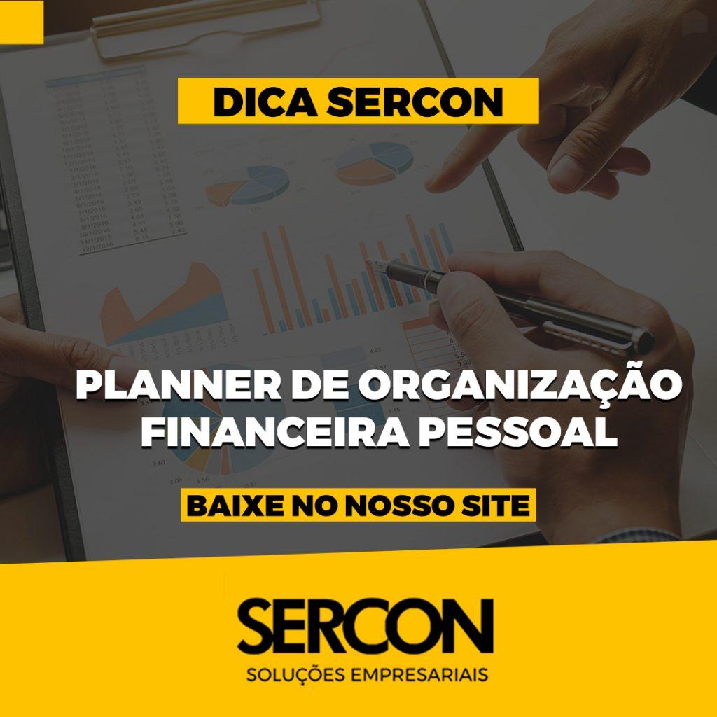 PLANER DE ORGANIZAÇÃO FINANCEIRA PESSOAL