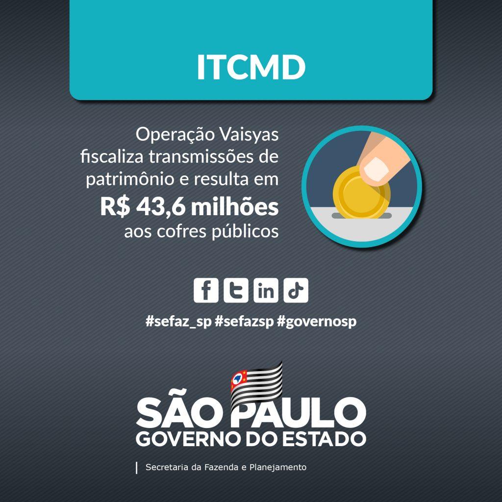 Operação Vaisyas totaliza R$ 43,6 milhões em ITCMD com nova atuação da fiscalização